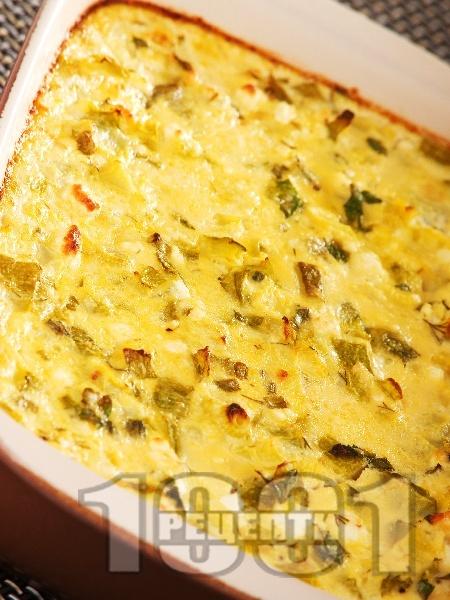 Огретен с тиквички и сирене - снимка на рецептата